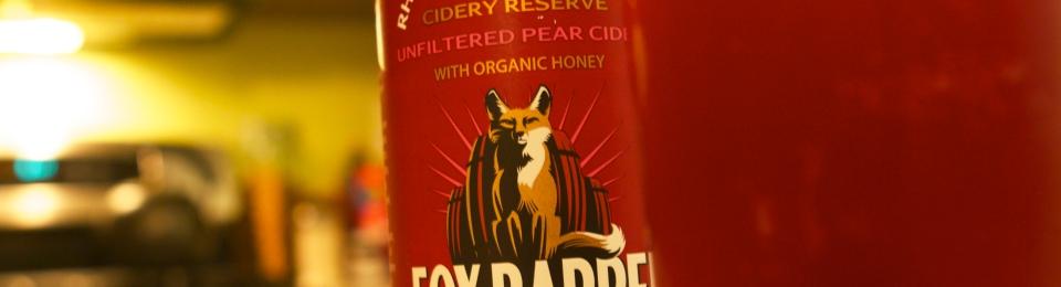 Fox Barrel Pear Cider with Rhubarb and Elderberries